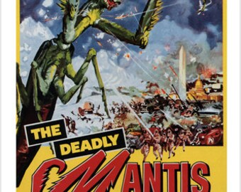 The Deadly Mantis By Nathan Juran 1957 Movie Poster 24x36 Vintage Horror