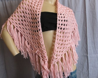 SALE - Pink Triangle Shawl (5029)