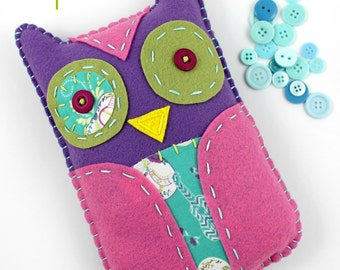 Owl Plush Sewing Pattern. Felt Toy. Hand Embroidery. Beginner Craft Tutorial DIY. Digital Pattern. PDF Pattern. Kids Crafts. Cute Owl Crafts