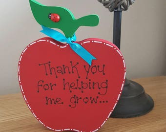 Thank you for helping me grow teacher gift apple