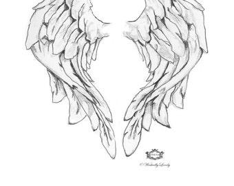 Angel Wings tattoo,  Angel wings, Wings tattoo, wings, Wickedly Lovely Skin Art Temporary Tattoo