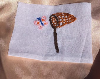 Net catching butterfly patch