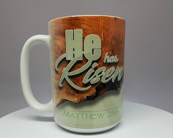 "Easter Mug - ""He has Risen"" (1 of 4)"