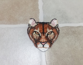 Embroidered Tiger Head Patch Iron On