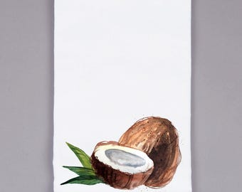 White Flour Sack Towel - Coconut