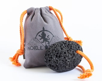 Large Natural Volcanic Lava Pumice Stone With Orange Rope For Men & Women