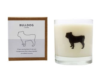 Bulldog Soy Candle Soy Candle Bulldog Candle Hostess Gift Bulldog Dog Candle Dog Gift Scented Candle The Original Scripted Fragrance Candle