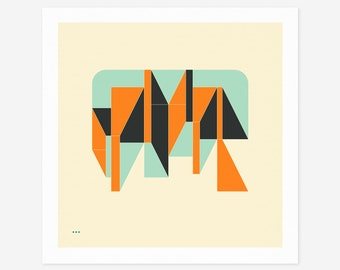 SYSTEMS 7.2 (Giclée Fine Art Print/Photo Print/Poster Print) Minimal Geometric Abstract Art