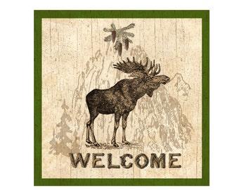 Moose Plaque-Welcome Plaque
