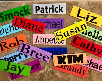 Name Magnets - Set of 4 - Great for Classrooms! Discounts on Larger Sets!
