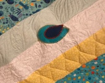 """NEW - Birds in Paradise Baby Quilt - 41x48"""""""