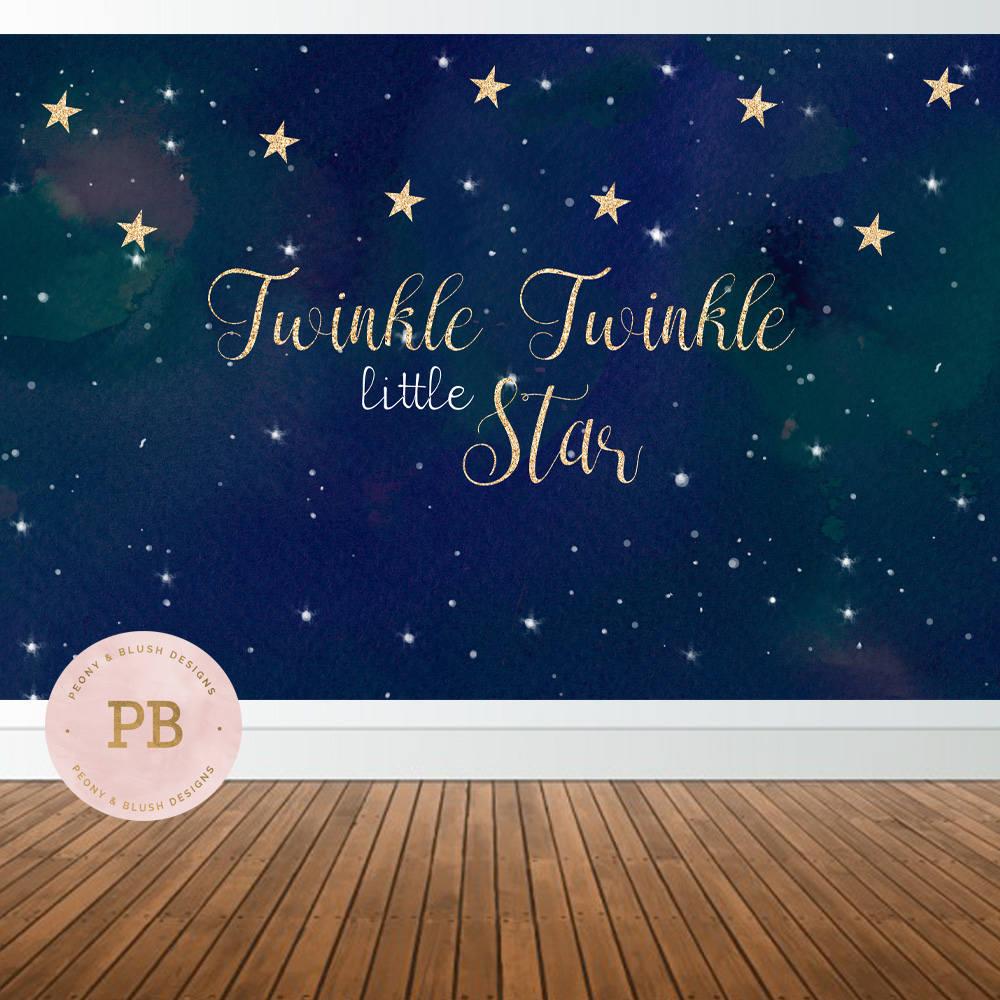 Digital Twinkle Twinkle Little Star Backdrop Twinkle Little