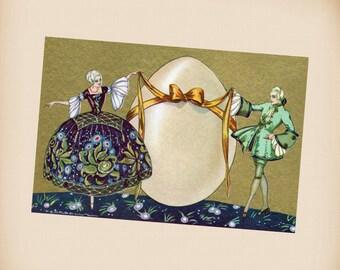 Corbella Easter Egg Couple New 4x6 Vintage Postcard Image Photo Print CO04