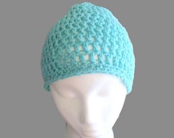 Blue Kids Hat, Childs Cloche, Crochet Cloche Hat, Kids Beanie, Blue Crochet Hat, Childs Winter Hat, Kids Slouch Hat, Childs Slouch Bea