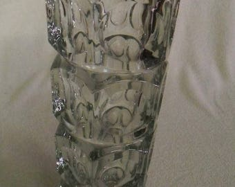 Interesting-Beautiful crystal vase-Panton design style-25 cm-at 1970-Glass design