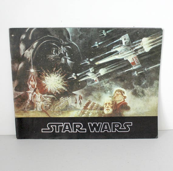 1977 Star Wars Movie Program, Vintage Sci Fi Film Booklet