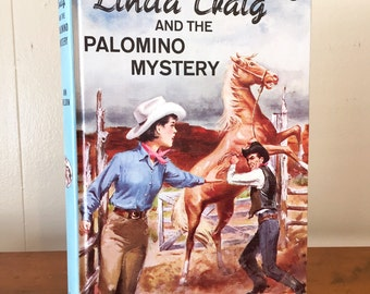 Vintage Book Linda Craig and the Palomino Mystery 1960s Girls Horse Ranch Decor