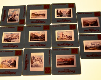 35mm slides, photos of paintings