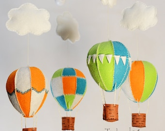 Hot Air Balloon Mobile - Custom Mobile (not ready made) - Ships in 4-6 Weeks