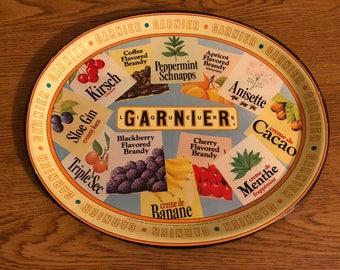 Vintage Garnier Liqueurs Tray