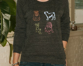 i heart DOGS Pullover, Dog Sweater, Gift for a Dog Lover, S,M,L,XL
