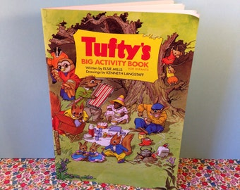 Tufty's Big Activity Book - 1970s Childrens Book - Paperback