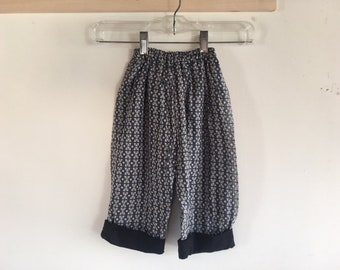 Cute Toddler's Printed Elastic Waist Pants with Contrasting Cuff