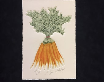 Bunch of Carrots by Charles Leonard  Limited Edition artist proof