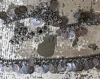 Exotic Vintage Ethnic Coin Belly Dancing Belt
