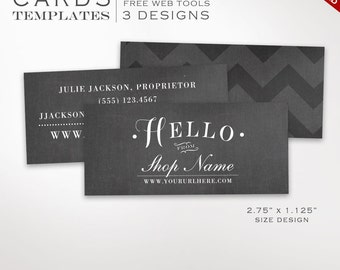 Business card template mermaid scales mini business card business card template chalkboard mini business card design template diy printable half business card flashek Choice Image