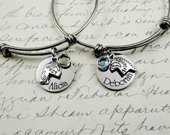 Best Friends Bracelets Set Of Two  -  Friendship Bracelets - Custom BFF Jewelry - Best Friends Jewelry