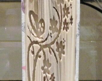Flowers Butterfly Book Folding Pattern