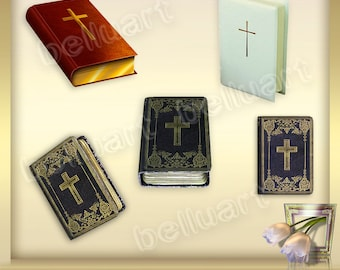5 Religious Clipart Vol. 1 - Religious Clip Art -  religious overlays - christian clipart - bible  graphics - Instant Download - png files