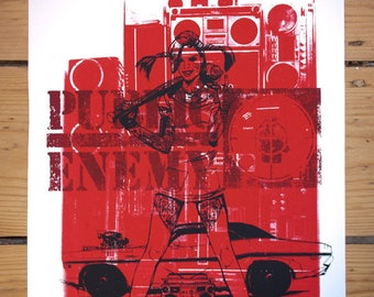 LONGSTOCKINGS ENEMY silkscreen print