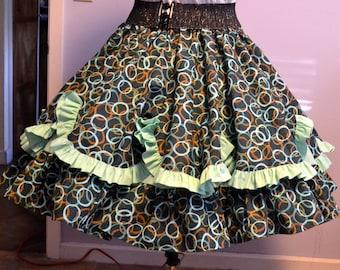 Square dance skirt in multiple size