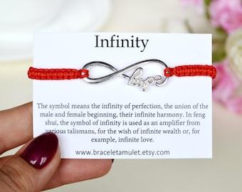 Best friend birthday gift Infinity bracelet Wish bracelet Bridesmaid bracelet Initial bracelet Mother everyday bracelet Infinity jewelry