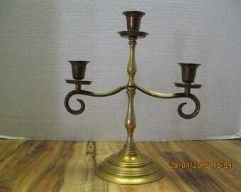 Vintage brass candablra candle holder
