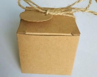 1pcs ,50pcs,100pcs Kraft Gift  Boxes -SIZE: 5cmX5cmX5cm- Treat Boxes-Party Boxes -Birthday Party -Gift Box -Favor Boxes -Wedding Favor Boxes