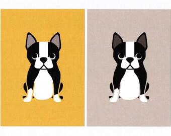 Boston Terrier Giclee Print
