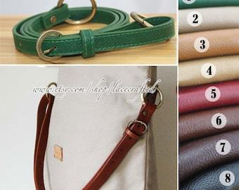1Pc  Adjustable PU leather Shoulder bag straps, Black Leather Shoulder Handles ,46inchs x1.5cm Bronze Anti Brass Gold Silvery Buckle