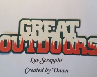 The Great Outdoors Scrapbook page title