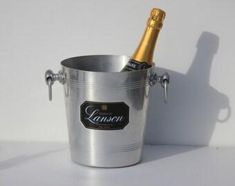 Vinage French Lanson  Champagne, Ice Bucket ,cooler; Aluminium