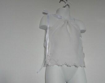Baby Girl Pillowcase Dress. Christening Dress. Baptism Dress. White Dress. Easter Dress. Spring Dress. Summer Dress. Wedding Dress.