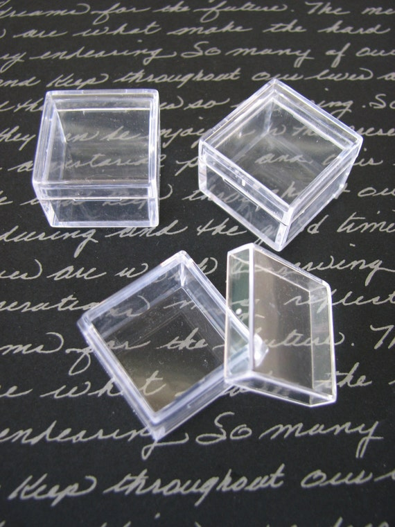 20 Pack Clear Acrylic 1 X 1 Inch Box Storage SQUARE Container Charm Earring  Gemstone Boxes Bead Gems Trinket Jewelry