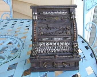 Miniature Cash Register, Cash Register, Shelf Decor, Cottage Chic Decor, Office Decor, Cash Register Old Style, made of Resin, Decor