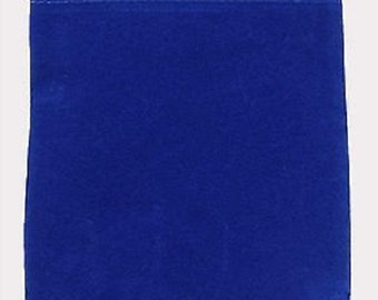 10 - Velvet Pouches - 4 x 5 - Blue