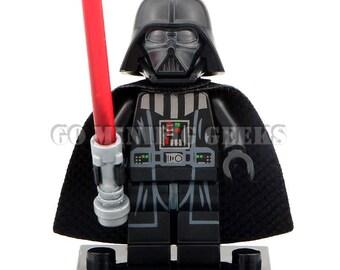 Custom Darth Vader Classic Minifigure Star Wars Fits Lego UK Seller