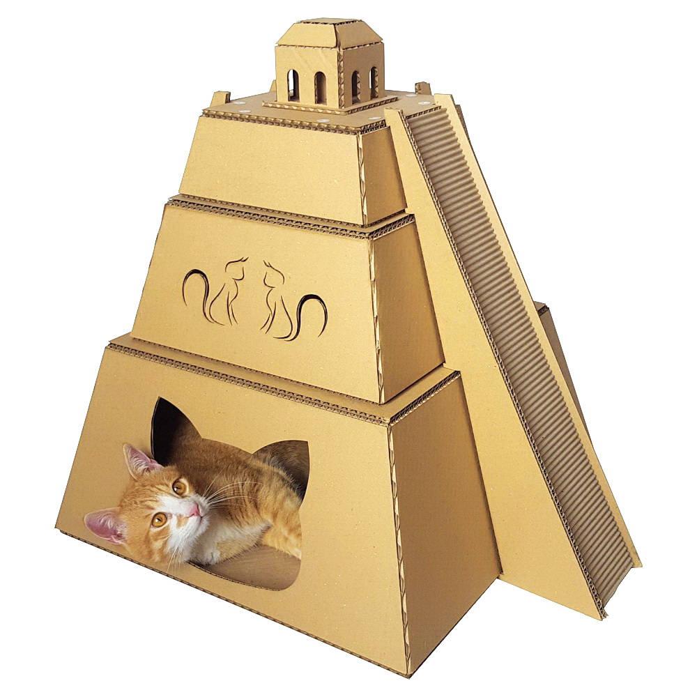 Pir Mide Maya Cart N Gato Casa Muebles De Gato La Cama Del # Muebles Piramides