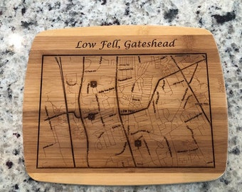 Custom Map Cutting Board