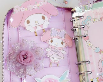 Planner Clip : Large MY MELODY Sanrio Kawaii Character Gold PaperClip | Page Clip | Bookmark | Page Marker . Planner accessories supply.
